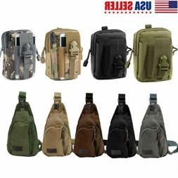 Outdoor Men Backpack Molle Tactical Sling Chest Pack Shoulde