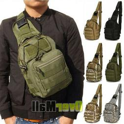 Outdoor Military Tactical Chest Pack Bag Hiking Trekking Cli
