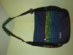 Jansport Padded Shoulder Laptop Messenger Bag Rainbow Animal