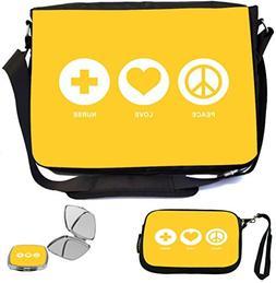 Rikki Knight Peace Love Nurse Yellow Color Design COMBO Mult