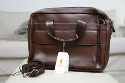 Polo Videng Leather Briefcase, Messenger Bag, Beautiful Brow
