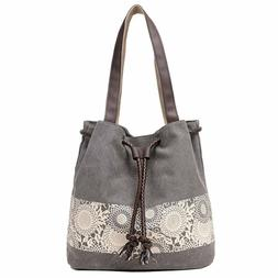 Hiigoo Printing Canvas Shoulder Bag Retro Casual Handbags Me