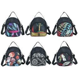 Printing Shoulder Messenger Handbags Nylon Women Crossbody T