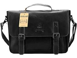 PU Leather Briefcase, Berchirly Vintage Office Laptop Briefc