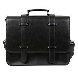 ECOSUSI PU Leather Laptop Messenger Bag Briefcase Satchel Pu