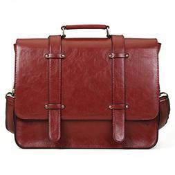 ECOSUSI PU Leather Laptop Messenger Bag Briefcase Satchel Pu