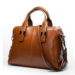 Real Genuine Leather Women's Handbag Shoulder Bag Satchel Pu