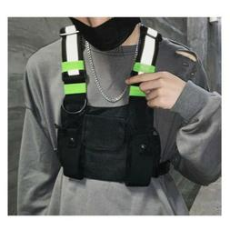 Reflective Tactical Front Chest Rig Bag Outdoor Sport Leisur