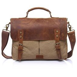Retro Canvas Leather Vintage Messenger Bag Satchel Briefcase
