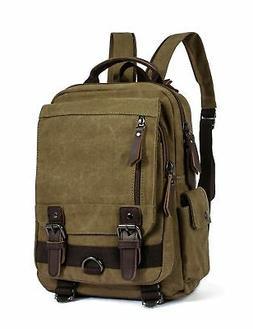 Leaper Retro Canvas Messenger Bag Backpack Travel Bag Cross