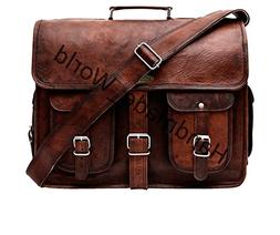 Handmade World Leather Messenger Bag - 16 Inch Briefcase Mes