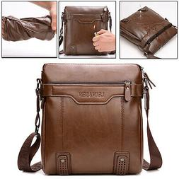 Retro Mens Leather Cross body Shoulder Messenger Bag Busines