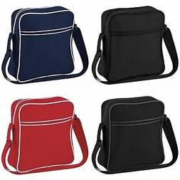 Bagbase Retro Mens/Womens Plain Flight/Travel Messenger/Shou