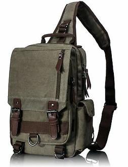 Leaper Retro Messenger Bag Canvas Shoulder Backpack Travel R