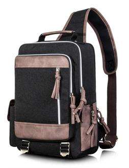 Leaper Retro Messenger Bag Outdoor Cross Body Sling Bag Trav