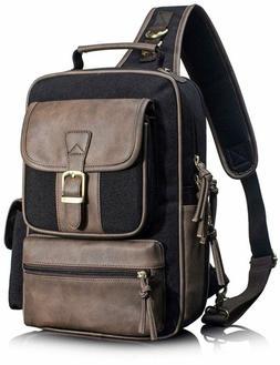 Leaper Retro Messenger Bag Unisex Crossbody Bags Shoulder Ba