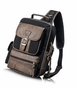Leaper Retro Messenger Bag Unisex Crossbody Bags Travel Bag