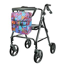Vive Rollator Bag - Universal Travel Tote for Carrying Acces