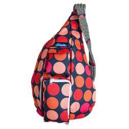 KAVU Rope Sling Bag Polyester Shoulder Backpack - Fire Ball