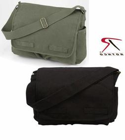 Rothco Vintage Classic Messenger Bag - Choose Black or Olive