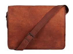 Rustic Town 15 inch Vintage Crossbody Genuine Leather Laptop