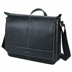 S-ZONE 14 inch Laptop Messenger Bag for Men, Microfiber Leat