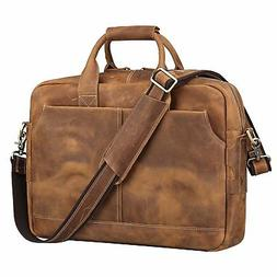 S-ZONE Genuine Leather Professional Look Briefcase Bag for 1