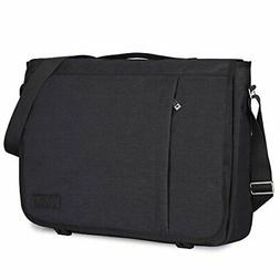 S-ZONE Laptop Messenger Bag 17 inch Shoulder Bag for Work Co