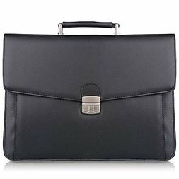 S-Zone Mens Microfiber Leather Briefcase Messenger Bag Lapto