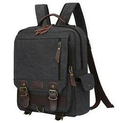 S-ZONE Sling Canvas Cross Body 13-inch Laptop Messenger Bag