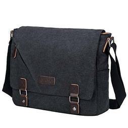 S-ZONE Vintage Canvas Messenger Bag School Satchel Shoulder