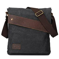 S-ZONE Vintage Lightweight Small Canvas Messenger Bag Travel