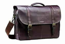 Samsonite Colombian Leather Flap-Over Messenger Bag Laptop B