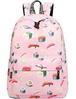 School Bookbags for Girls, Cute Sushi Backpack College Bags