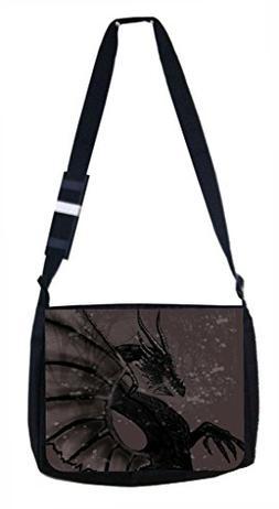 Lea Elliot School Messenger Bag, Black Dragon