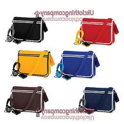 Bagbase Messenger Retro Shoulder Bag Uni/Fashion/Work/School
