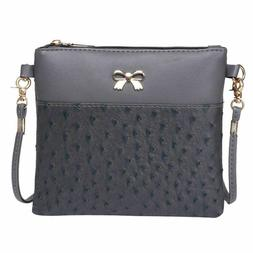 Shoulder Women Messenger Cross Body Bags Hit Color Leather H
