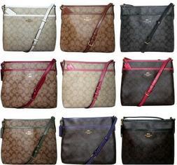Coach Signature Crossbody PVC File Bag Purse Handbag Messeng