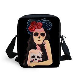 Skull pattern Messenger bag Women's Men's Shoulder handbags