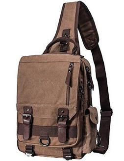 Mygreen Sling Canvas Cross Body 13-inch Laptop Messenger Bag