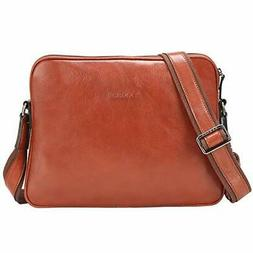 Banuce Small Full Grains Italian Leather Messenger Bag for M