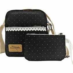 Small Messenger Bag Canvas Dot Organizer Crossbody Travel Sh