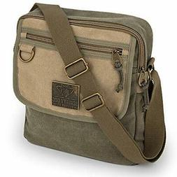 Small Messenger Bag for Men and Women with Adjustable Strap