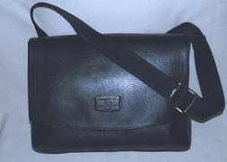 ST.DUPONT Paris Genuine Cowhide Messenger Bag-Small-Gunmetal