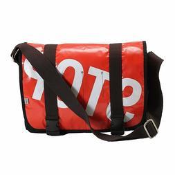 "Ducti ""Stop"" Bike Messenger Bag & Laptop Case - Red White Bl"