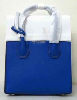 Michael Kors Studio Mercer Medium Electric Blue Pebbled Leat
