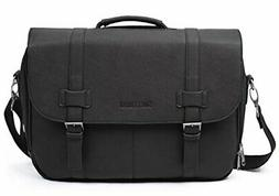 Sweetbriar Classic Laptop Messenger Bag, Black - Vegan Leath