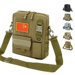 Men's Canvas Small Messenger Bag Casual Shoulder Bag Chest B