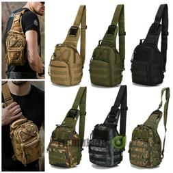 Tactical Chest Bag Backpack Men's Molle Crossbody Sling Mess