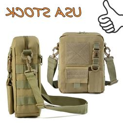 Tactical MOLLE Pouch Small Canvas Messenger Bag Small Sling